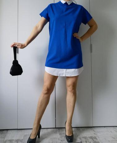 Sukienka 36 Zara niebieska chaber