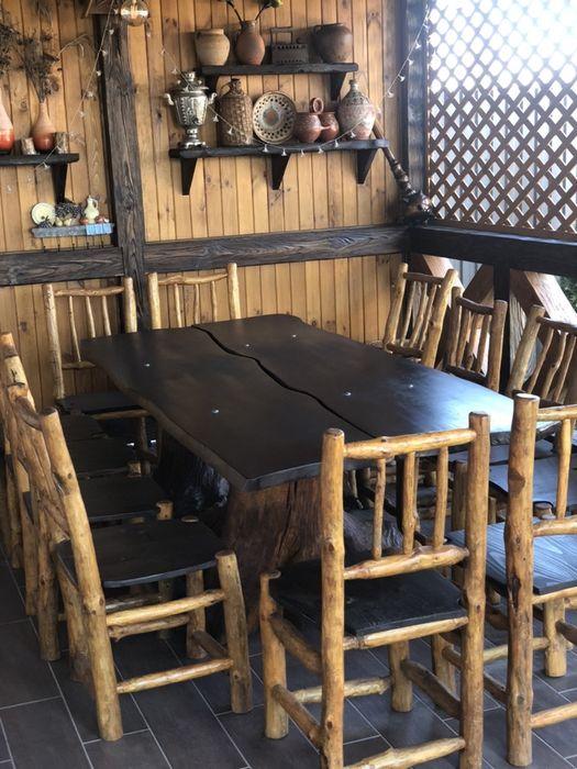 Комлект деревянной мебели, для терассы, кафе Жовтневое - изображение 1