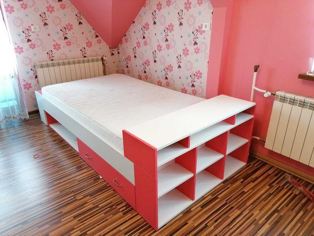 Łóżko dziewczynki materac 120x200 super stan