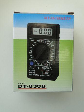 Новый. Тестер, мультиметр DT-830B с батарейкой и щупами