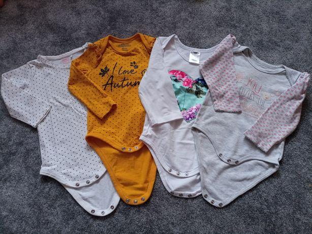 Komplet koszulek dla dziewczynki body na długi rękaw