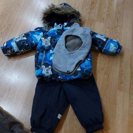 Зимовий комбінезон Reima lenne 80 (2 пари штанів + шапка)