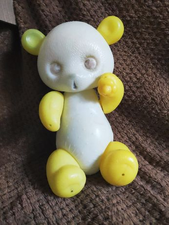 Игрушка СССР пластмассовый мишка