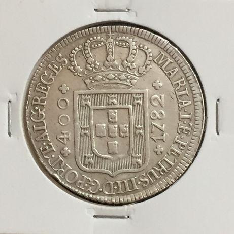 CRUZADO NOVO (480 réis) 1782 - prata - D. Maria I/D.Pedro III