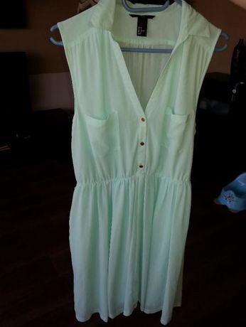 sukienka H&M 44 miętowa