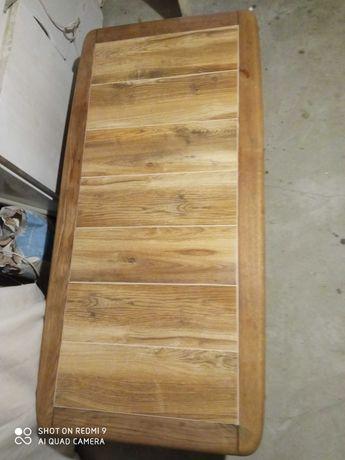 Ława dębowa drewniana