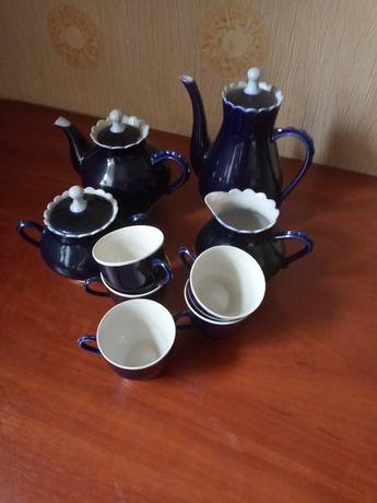 Кофейный набор синего цвета