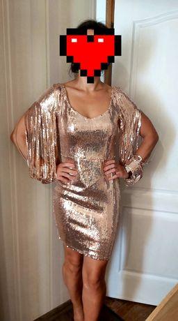 Крутое платье пайетка