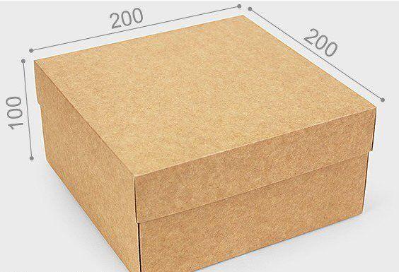Коробка . Крафт. 20*20*10 см. Универсальная
