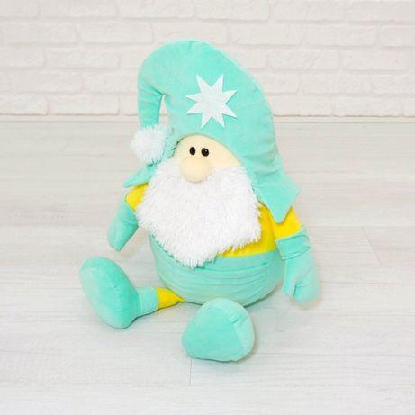 М'яка іграшка Kidsqo гномик Санта 53см м'ятно-жовтий