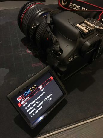 Фотоаппарат Canon EOS 600D + обьектив Canon EF 24-105mm f 4L IS USM