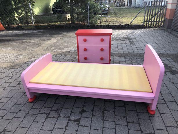 Łóżko z komodą dla dziecka Dziewczynki Supe stan