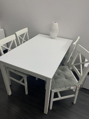 Bialy Stol z krzeslami jysk ejby