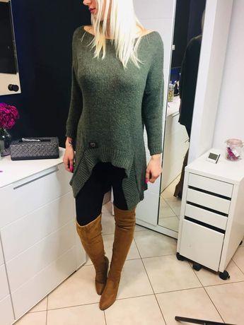Modny asymetryczny sweter rozm.uniwersalny