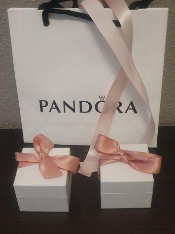 Zestaw pudełko Pandora+torebka+ściereczka do czyszczenia biżuterii