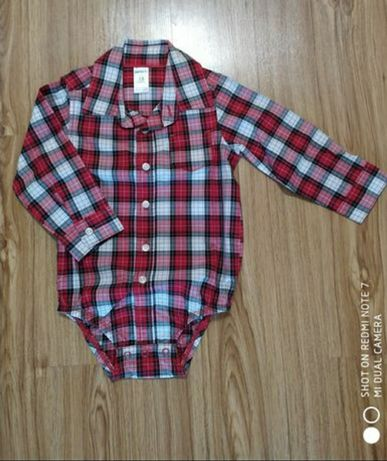 Костюм рубашка- боди и джинсы Carter's