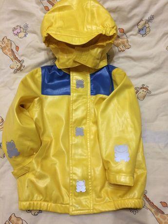 Куртка дождевик на флисе