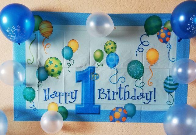 Декор на стену и слюнявчик на 1ый день рождения мальчику