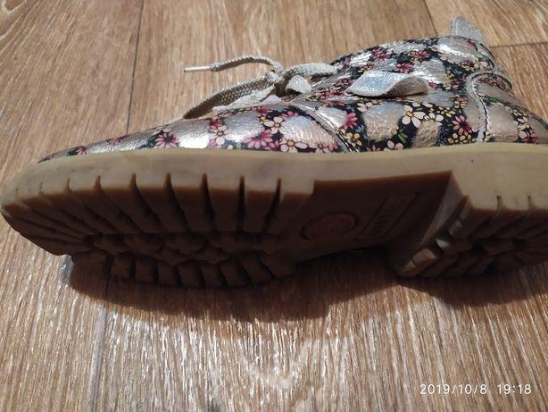 Демісезонні шкіряні ботинки