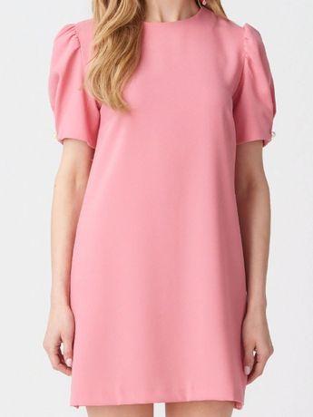 Платье жемчуг,розовым цветом.Размер 44-46