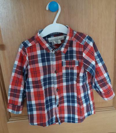 Conjunto calças de ganga e camisa, H & M, 9/12 meses