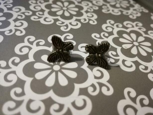Kolczyki zlote motylki