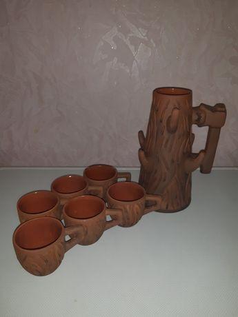 Красивый глиняный набор