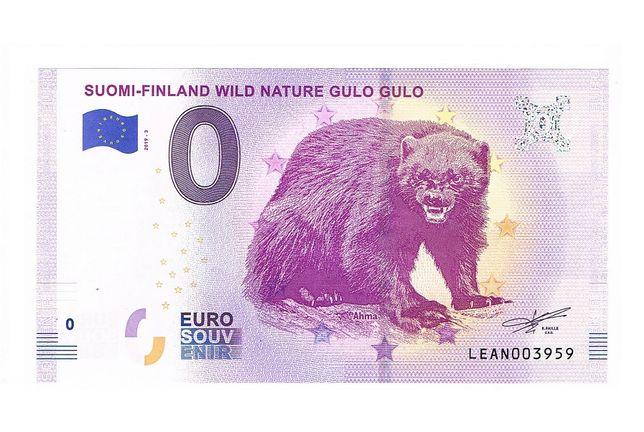 0 euro Suomi-Finland Wild Nature Gulo Gulo 2019-3
