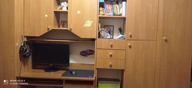 Детская мебель стенка Юниор, стол шкаф пенал полка