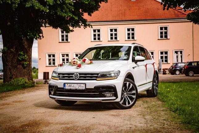 Auto do ślubu Samochód na wesele biały SUV VW Tiguan R-Line