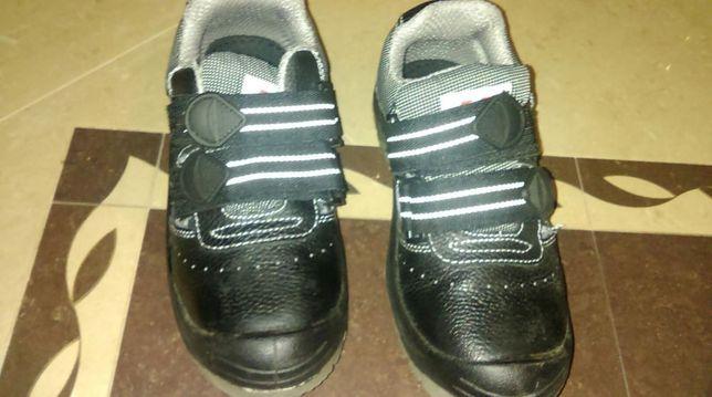 Buty ochronne skórzane czarne 37 nowe Galmag