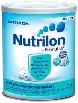 Сухая молочная смесь Nutrilon Преждевременный уход дома, 400 г