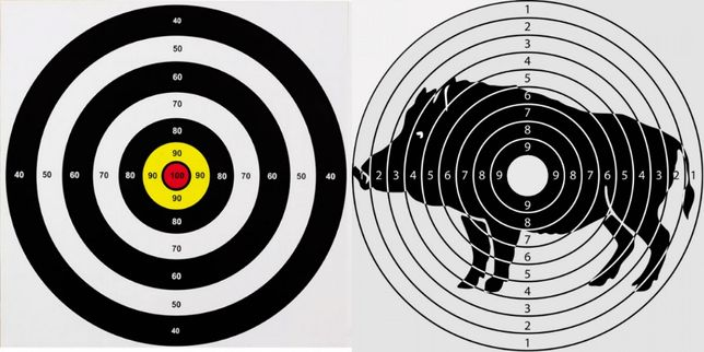 Мишени комплекты 10шт./50шт. для стрельбы из лука, арбалета, пистолета