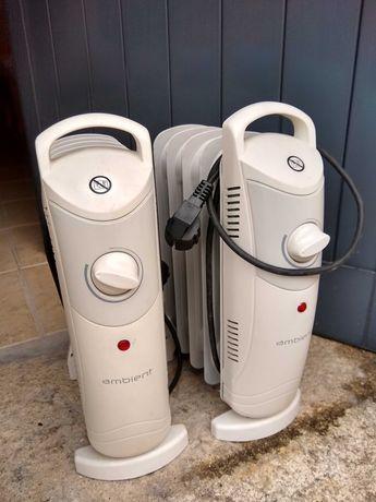 Dois aquecedores mini a óleo