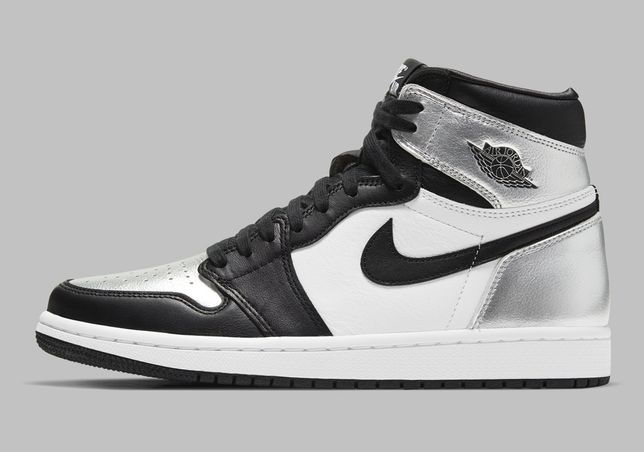 Nike Air Jordan 1 High Silver Toe