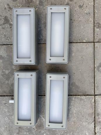 Projetor de parede retangular cinza IP66 Fumagalli