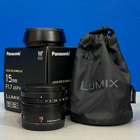 Panasonic Leica DG Summilux 15mm f/1.7 ASPH - MFT - Micro 4/3 (NOVA)