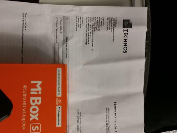 Mi Box S 4k roczny na gwarancji