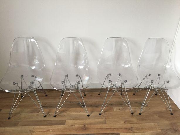 Krzesla transparentne prsezroczyste 6szt.