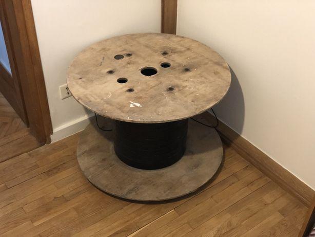 Stoliczek stół koło loft industrialny design szpula vintage zero waste