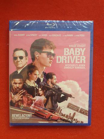 Baby Driver film Blu-Ray nowy folia