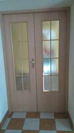 Drzwi dwuskrzydłowe kolor buk