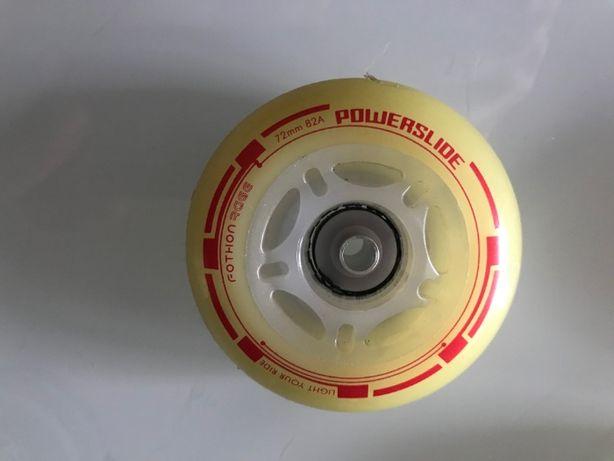 Kółka do rolek Powerslide Fothon 72 mm 4 szt. – czerwone