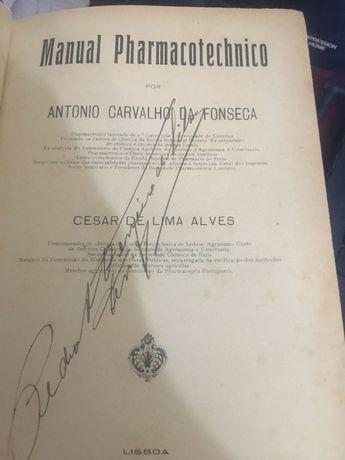 manual pharmacotechnico-antonio carvalho da fonseca 1910