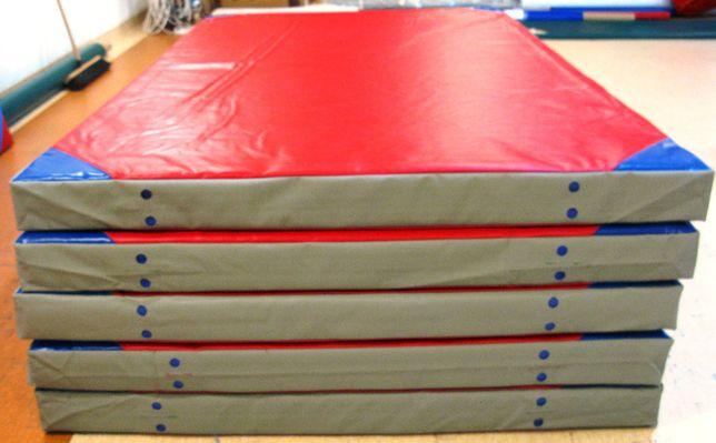 NOWY Materac szkolny gimnastyczny miękki 2x1,2m / 10cm końcówka serii