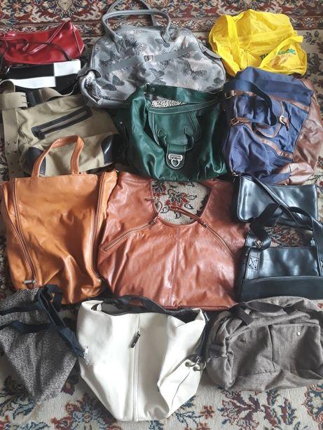 Mega paka zestaw torebek torba worek listonoszka A4