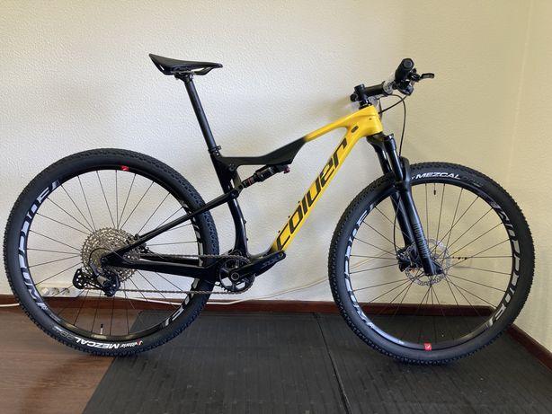 Bicicleta btt roda 29 carbono suspensao total coluer stake