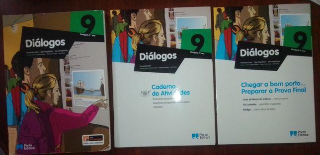 Diálogos 9 ano-manual + caderno de atividades+ preparar a prova final