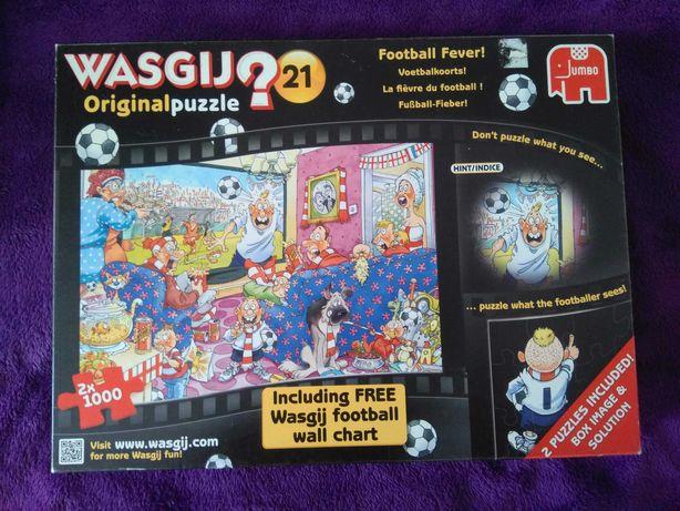 Puzzle Wasgij Original 21 football fever 2x1000 limitowane bdb plakat