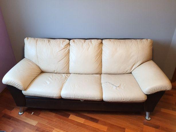 sofa kanapa 3os. rozkładana SWALEN skóra używana